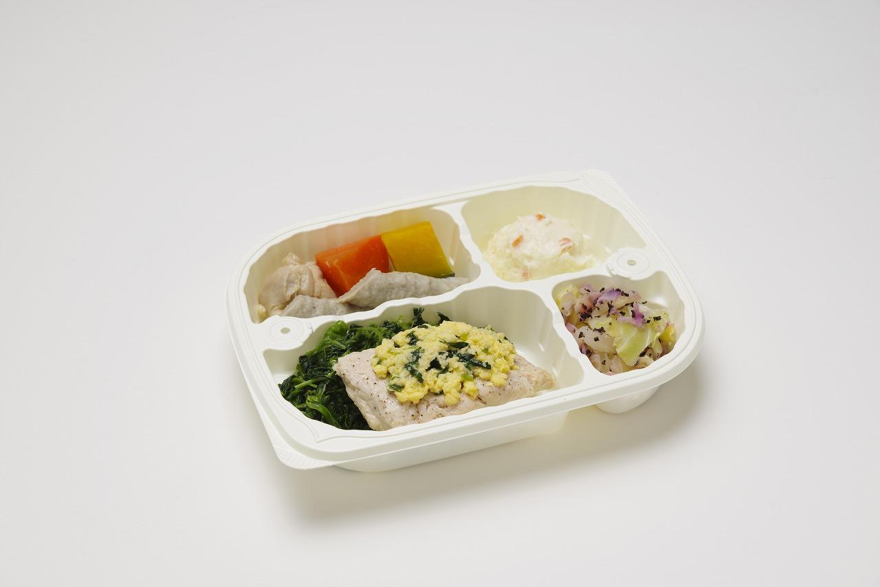 鮭の菜種焼容器入り(メニューの一例)