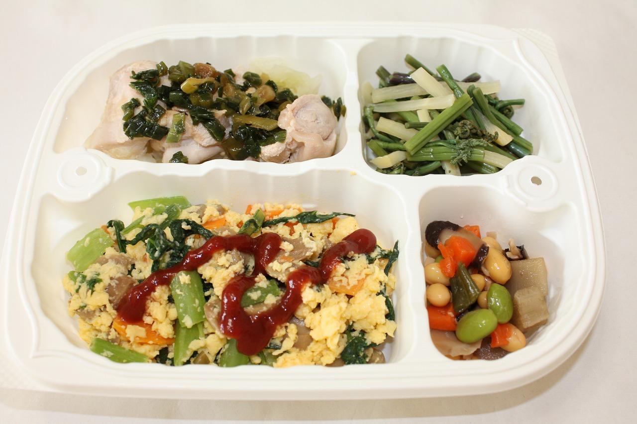 (メニューの一例)野菜のスクランブルエッグ