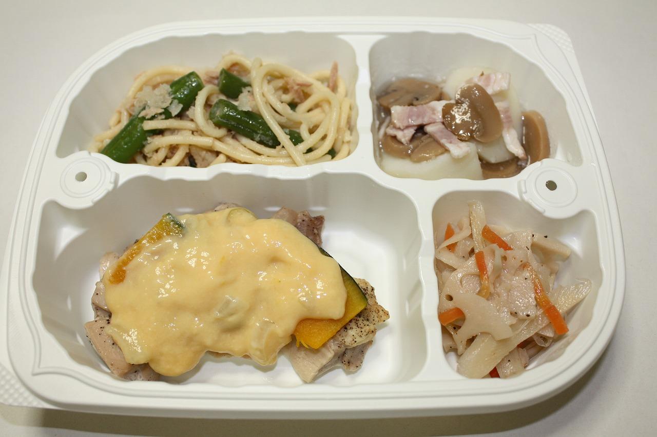 (メニューの一例)鶏肉のカルボナーラソース
