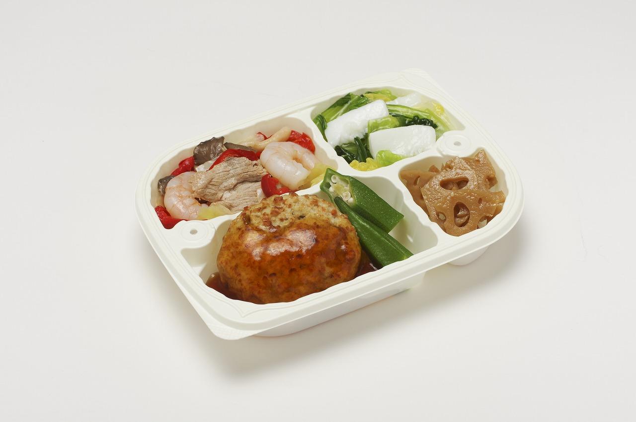 (メニューの一例)豆腐ハンバーグ