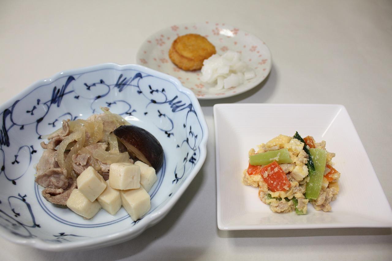 (メニューの一例)肉豆腐